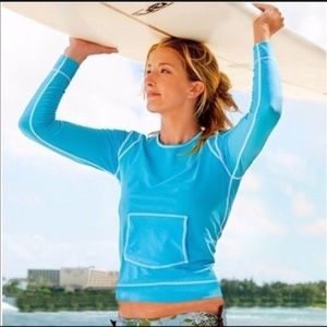 Athleta Summer Shade Rash Guard Surf Top Size L